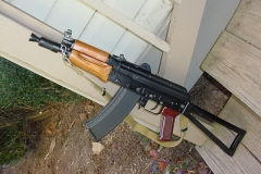 "Russian Laminated Handguards, and a Form 1 Short Barrel Rifle  done right.  Doesn't she look good now!  She stays locked up in the safe, for her own good.  Call me, I want you to build another for me and need your input.   ~ Bill B. ~  ""AKE"""