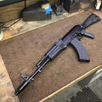 Saiga side folder install and a Russpaint refinish. Nice carbine!!!!! #gunsofinstagram #ak74 #aklife #ak47…