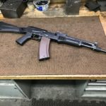 An odd set up Saiga for a customer. I'm thinking he's gonna install an…