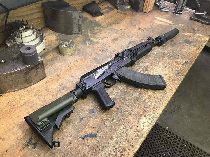 New pistol and made an Updated SBR. Dead Air Wolverine rounds out the package!!!!!!!…