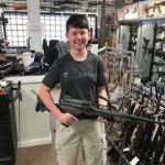 Christopher with the suppressed M249 at TN Silencer