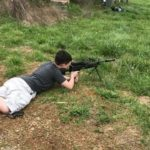 Christopher running the suppressed M249 down at TN Silencer. #nfa #class3 #m249 #fullauto