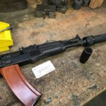 """Testing the KNS adjustable gas piston in a couple """" rifles with cans. The…"""