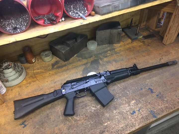 Saiga 12 we did a few mods on. Folder install trigger guard etc. This…