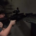 Christopher shooting the first internally suppressed 9mm AR upper I ever built. I think…