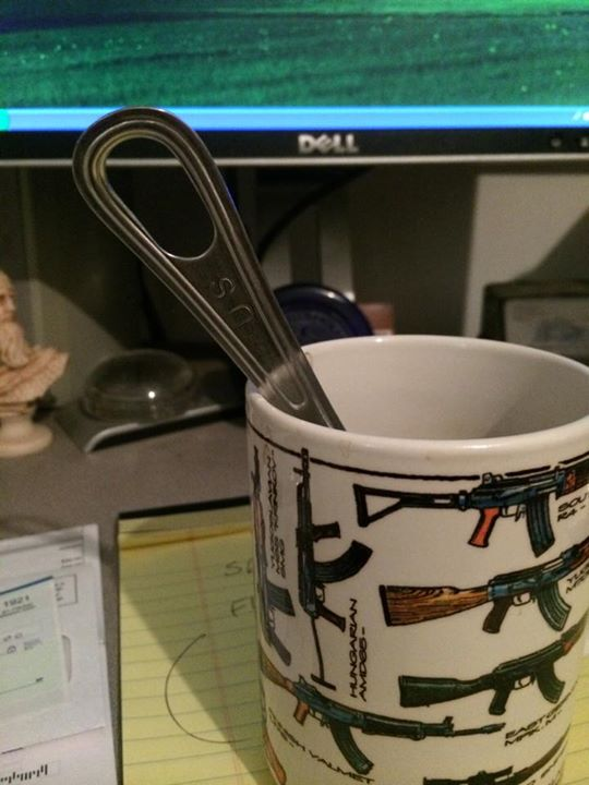 Thanks to a really good customer I no longer have to stir my coffee…