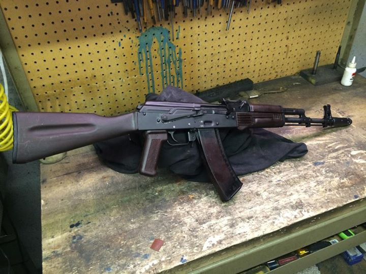 Some pics of a really nice Russian 1988 Izzy AK-74 with plum furniture. We…